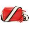 Crossbody Red (Black/White/Gold Strap)