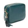 Crossbody Teal (Gold Chevron Strap)