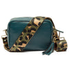 Crossbody Teal (Olive Leopard Strap)