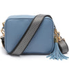 Crossbody Light Blue (Silver Chevron Strap)