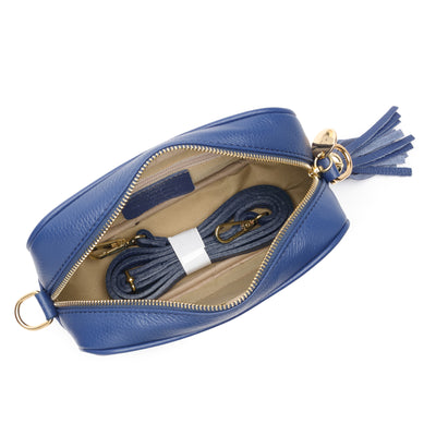 Crossbody Navy (Black/White/Gold Strap)