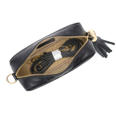 Crossbody Black (Aztec stripe strap)