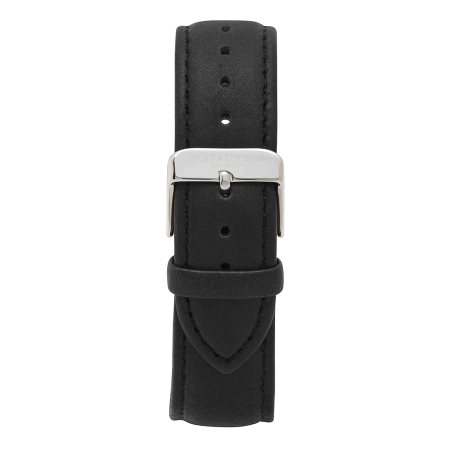 Mr Beaumont Black Silver Strap