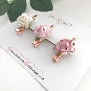 Luxury Vintage Rose Clips