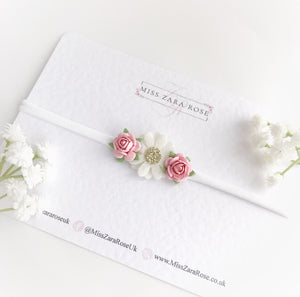 Daisy and Rose Cluster (Headband or Clip)