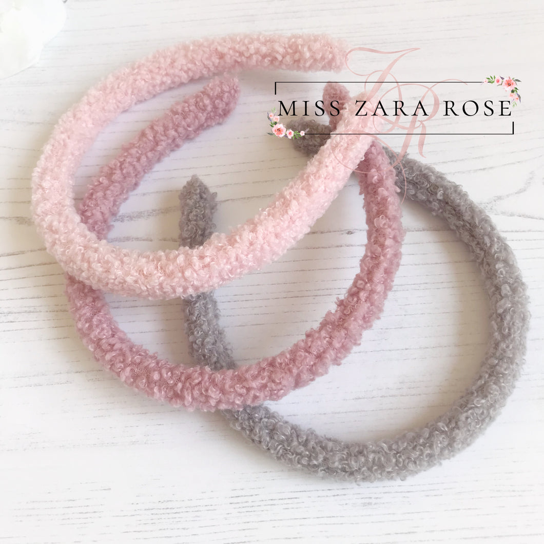 Fluffy Faux Fur Alice Band - 5 Colour Choices