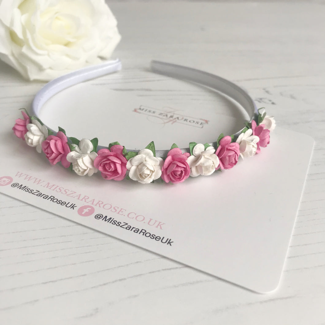 Dainty Rose Alice Band Headband