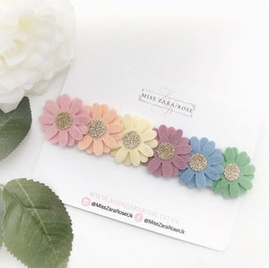 Pastel Rainbow Medium Daisy Flowercrown