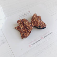 Limited Edition Luxury Copper Glitter Double Dolly Bow