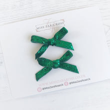 Sparkly Tinsel Christmas Pigtail Bows (4 colours available)
