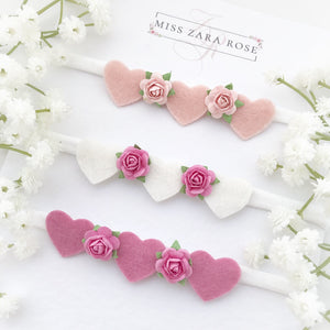 Florence Heart Headband Trio Set