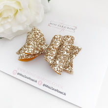 Luxury Champagne Gold Glitter Double Dolly Bow
