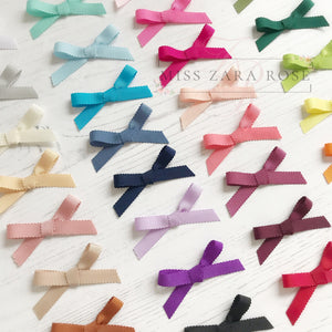 Scalloped May Bow (29 colour choices, headband or clip)