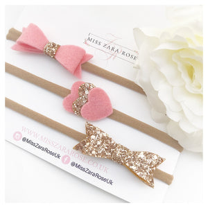 Cupid Pink Aurora Bow Set