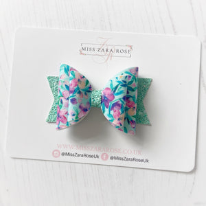 Floral Double Dolly Bow