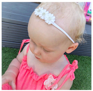 Tiny Daisy Headband - (54 colour choices)