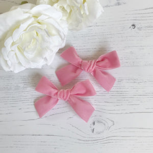 Blush Pink Pigtail Clips (pair)