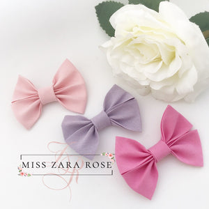 Pink and Lilac Elsie Bow Set