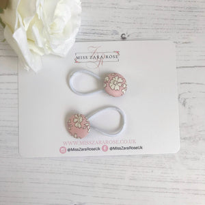 Blush Pink Capel Liberty Hair Bobbles (pair)