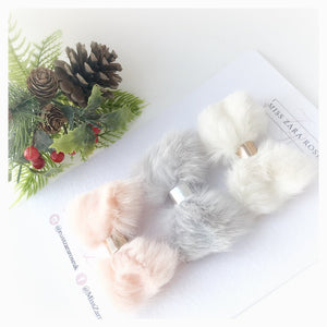 The Essentials - Fluffy Fur Bow Set