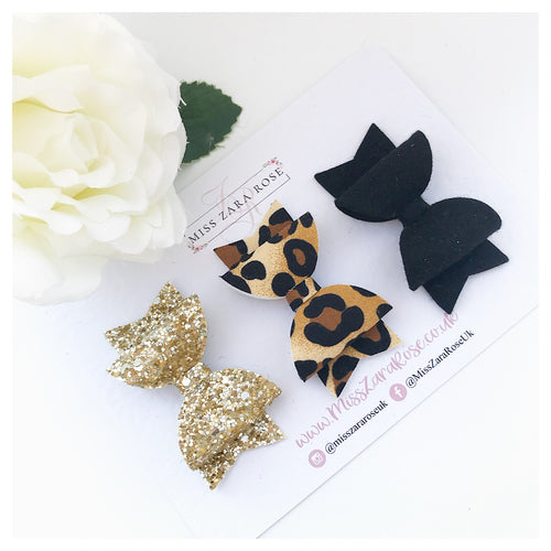 Sparkly Leopard 'Essentials' Dolly Set - clips or headbands