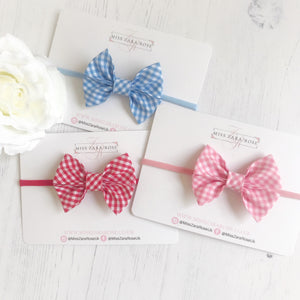 Gingham Elsie Bow (4 colours available)