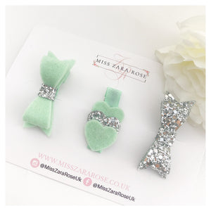 Mint and Silver Aurora Set