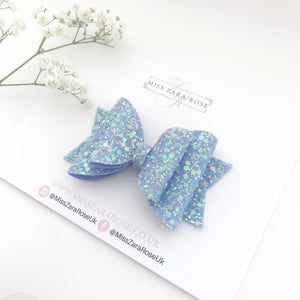 Luxury 'Enchanted Forest' Glitter Double Dolly Bow
