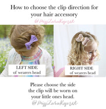 Esme Bow - headband or clip (54 colour choices)