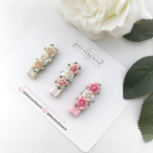 Pretty Pastels Spring Rose Clip Set