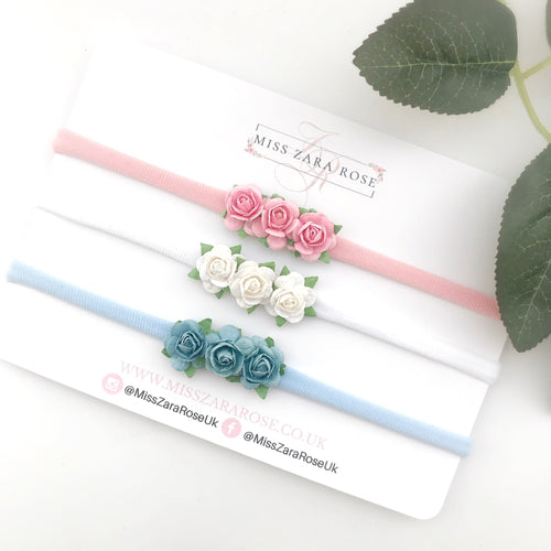 Essential Dainty Rose (Headbands or Clips)