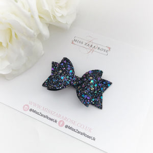 Luxury Kaleidoscope Glitter Dolly Bow (single layer)