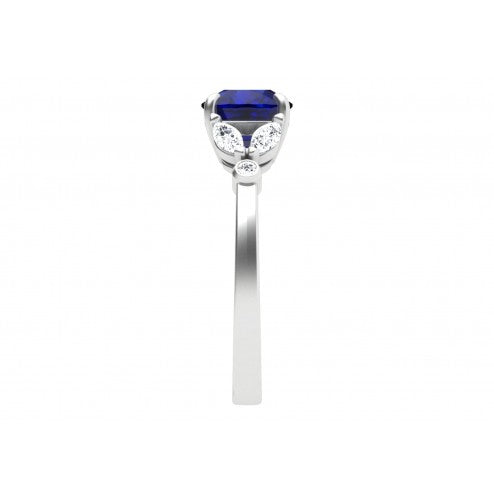 Charming Blossoms Sapphire and Diamond Ring
