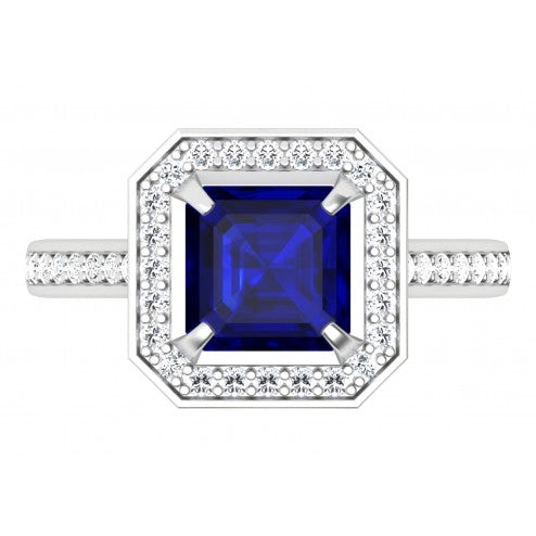 Bold and Beautiful Sapphire and Diamond Ring