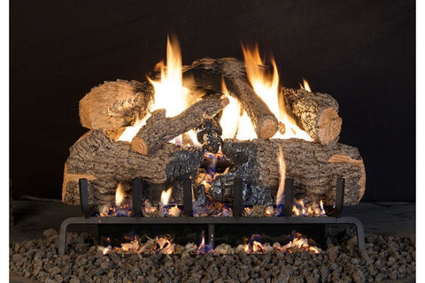 Charred Angel Oak Logs with Vented G45 Burner