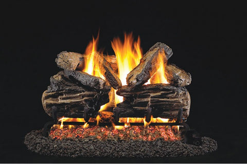 Charred Split Logs with Vented G45 Burner-CHS 24