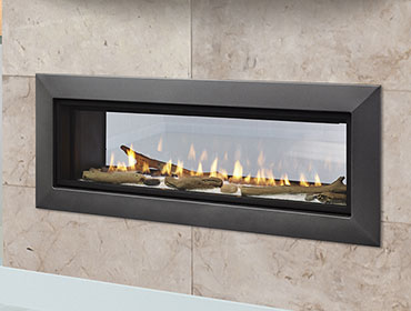 Echelon Ii 48st See Through Linear Direct Vent Fireplace Embers