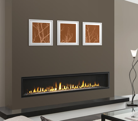 Echelon II 72 Linear Direct Vent Fireplace- ECHEL72IN