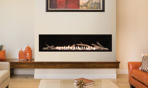 Boulevard Linear Contemporary Vent Free Fireplace 60""