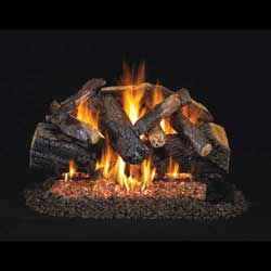 Charred Majestic Oak Logs with Vented G45 Burner