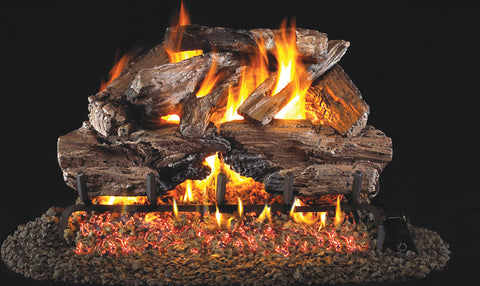 Charred Cedar Logs with Vented G45 Burner