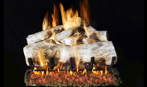 Mountain Birch Logs with Vented G45 Burner