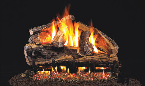 Rugged Split Oak Logs with Vented G46 Burner