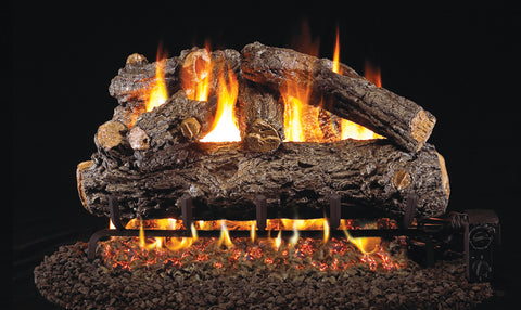 Rustic Oak Designer Logs with Vented G46 Burner
