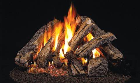 Rugged Oak Logs with Vented G45 Burner