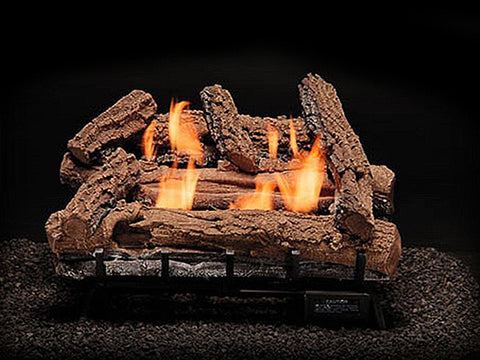 Regular Oak Logs with Vent Free HM2 Burner Systems