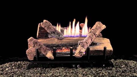 Whiskey River Log Set with Vent Free/Vented Burner