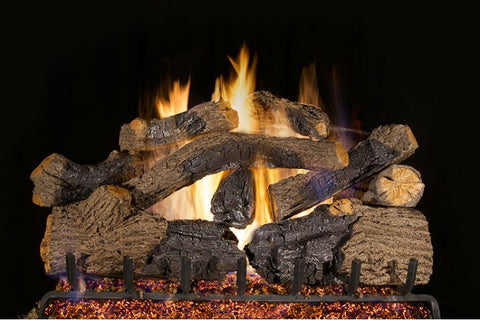 Charred Grizzly Oak Logs with Vented G45 Burner