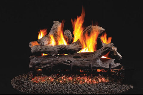 Coastal Driftwood Logs with Vented G46 Burner