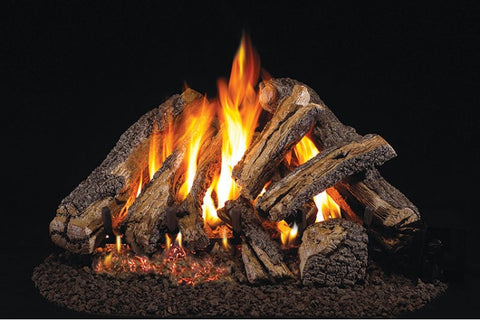 Western Campfyre Logs with P45 Dual Burner Flame Pan System